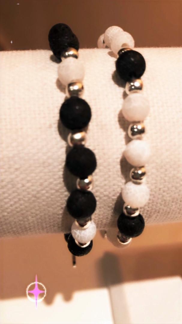 Black Lava and White Onyx