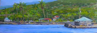 Kahaluu Beach, 8x24, SOLD (#2050)