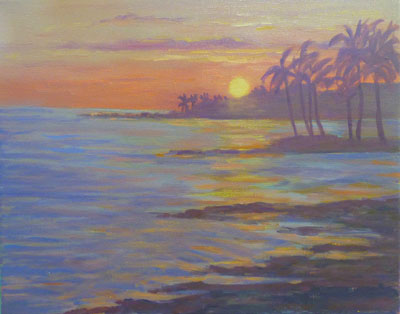 Kona Sunset, 11x14, (#2030)