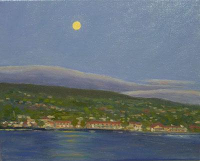 Kona Town Moon, 11x14, (#2047)