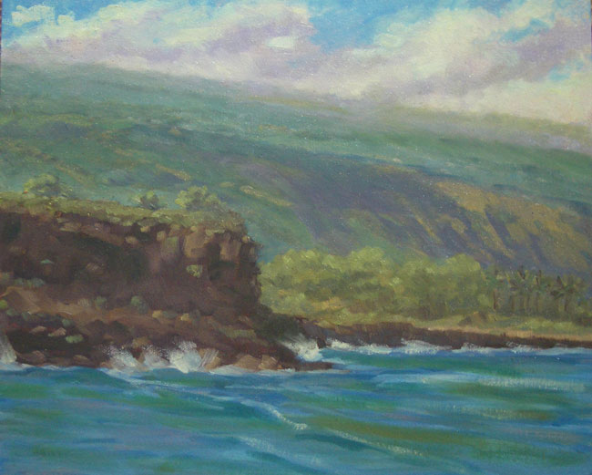 Ho'okena Beach View 11x14, Oil