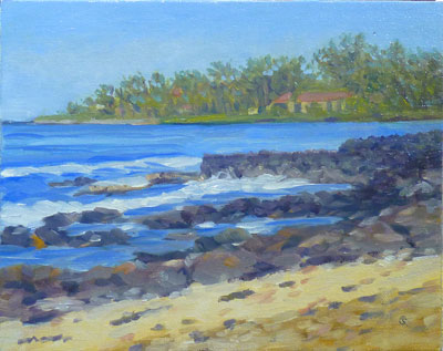 Kona Inn View, 8x10, (#2053)