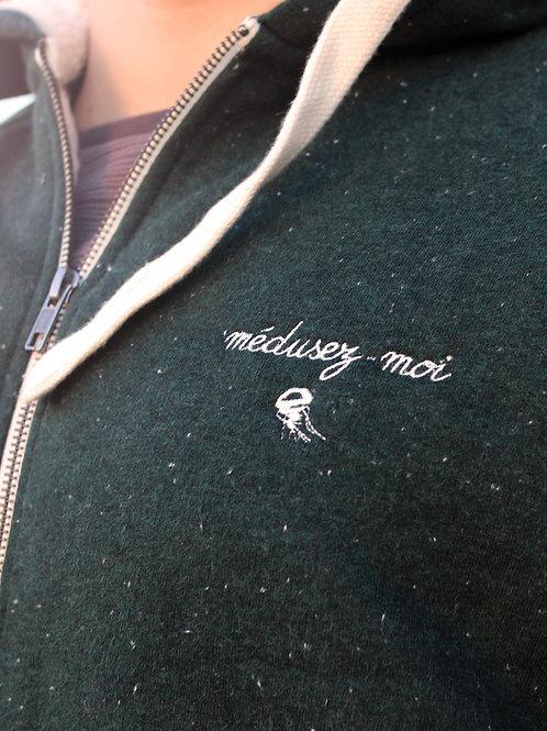 Sweat zippé sherpa homme