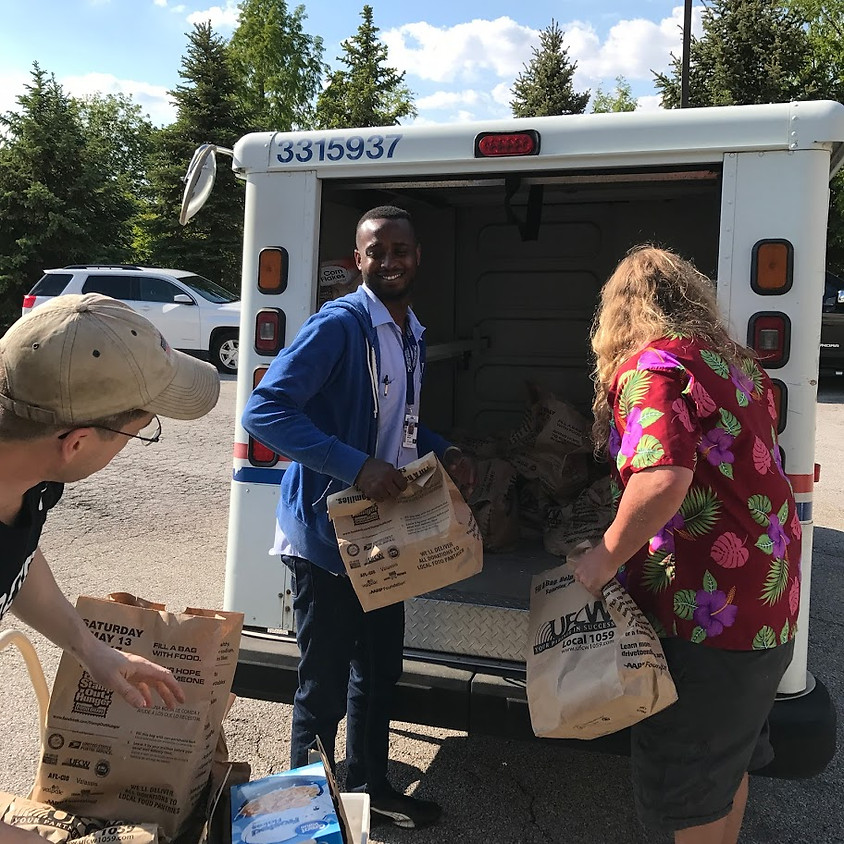 """Letter Carrier's """"Stamp Out Hunger"""" Food Drive"""