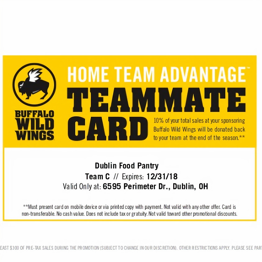 The Buffalo Wild Wings Home Team Advantage - Show Your Card!