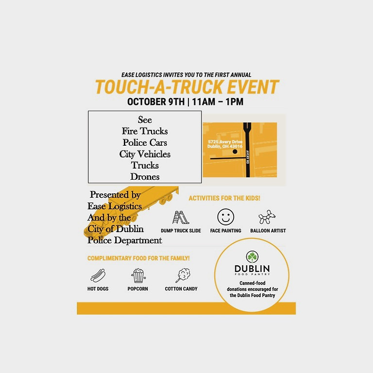 TOUCH-A-TRUCK with Fun, Free Activities and Snacks