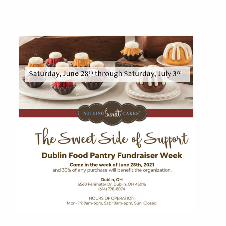 SWEET! On June 28 - July 3, please mention DFP at check out at Nothing Bundt Cakes