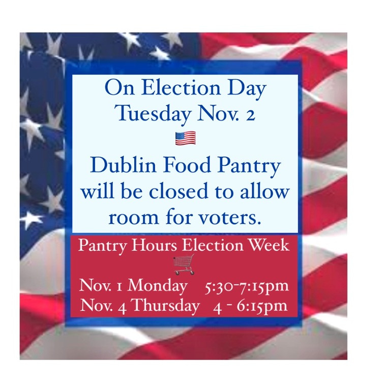 Pantry Closed on Election Day
