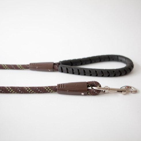 Rubber Handled Nylon Rope Lead