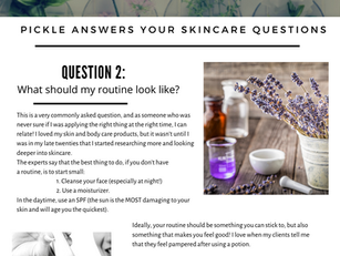 Skincare Questions: What should my routine look like?