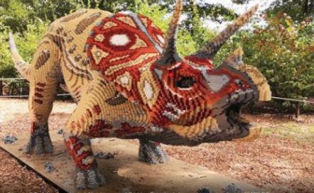 דינוזאור בתערוכת הלגו באילת. צילום Mario