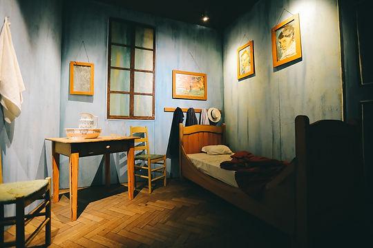 חדר שינה. תערוכת ואן גוך. צילום Ivanov C