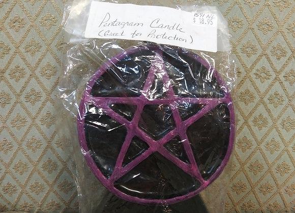 Pentagram candle