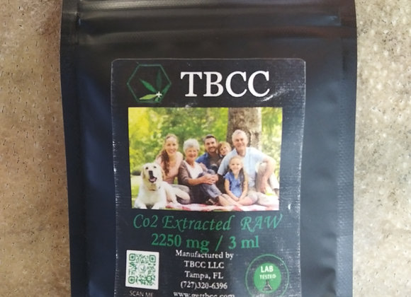 TBCC CO2 Extracted RAW 2250mg/3ml