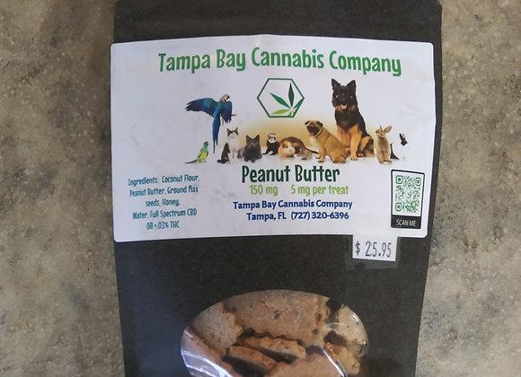 TBCC Peanut Butter Pet Treats 150mg/5mg per treat