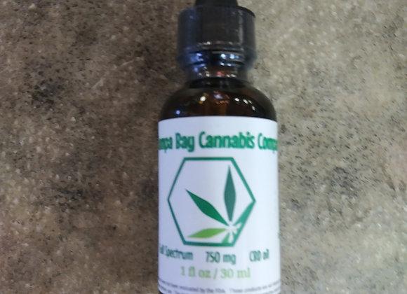 CBD Oil Broad Spectrum 750 mg  1fl oz /30ml