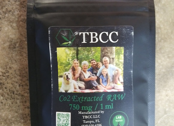 TBCC CO2 Extracted RAW 750mg/1ml