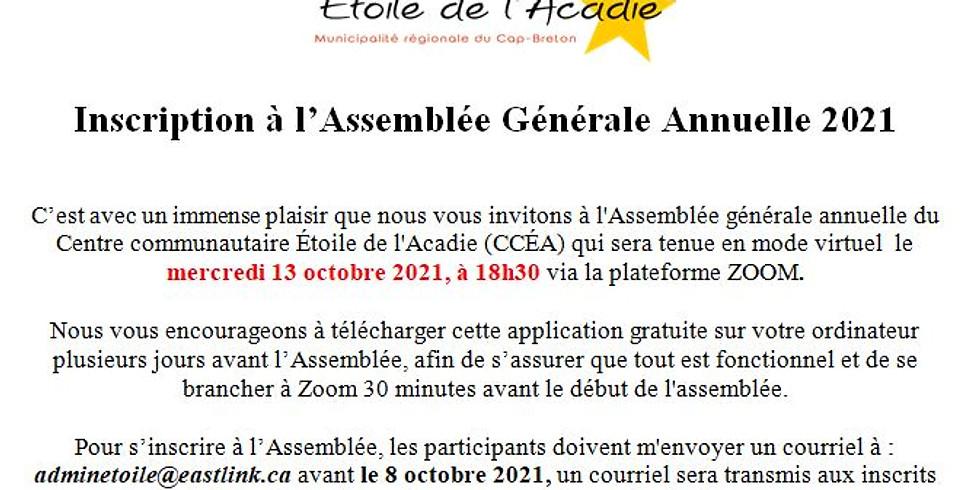 AGA du Centre communautaire Étoile de l'Acadie
