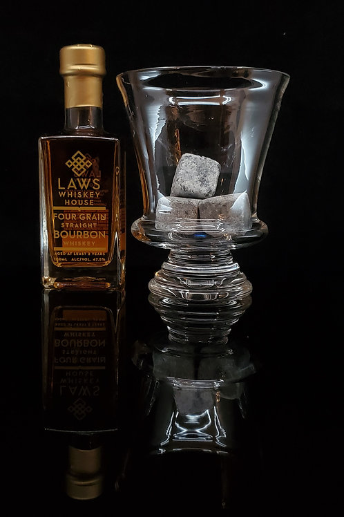 10oz solid foot greek inspired whiskey glass