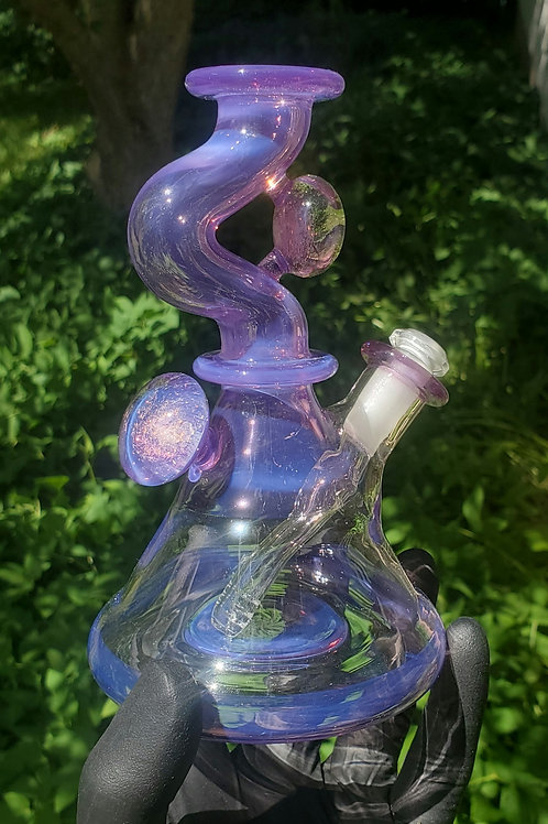 Stargazer & Dichro kink neck flask