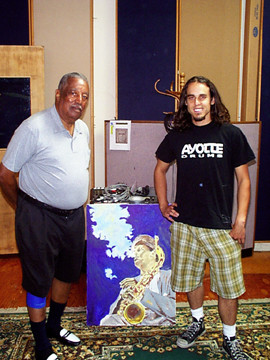 J and Ray Brown at Blues For Dexter sessions