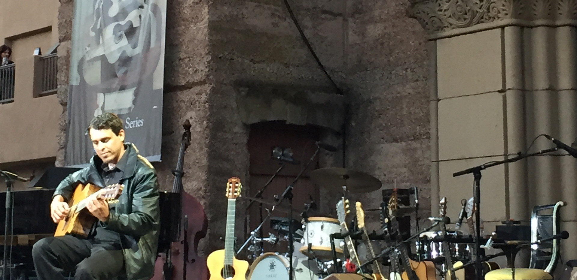 J solo opening for Diana Krall at Mountian Winery, Saratoga