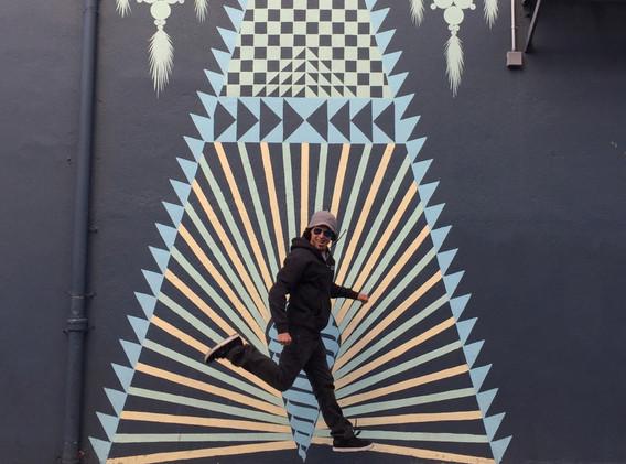 SF city shot random alley art