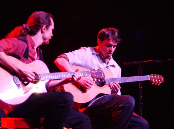 J & Tom opening for Satriani in Ventura. Photo by Marty Temme