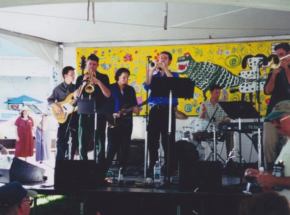 JB Sextet at festival in Sonoma Square
