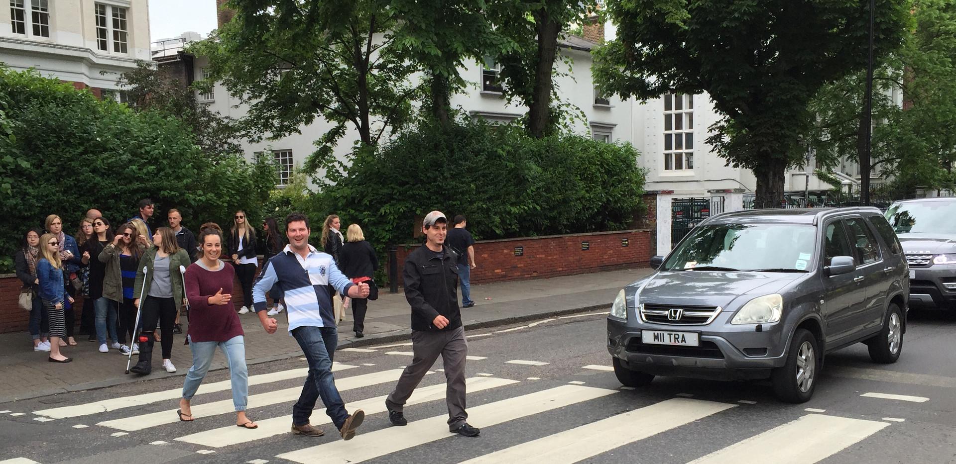 J crossing Abbey Road London
