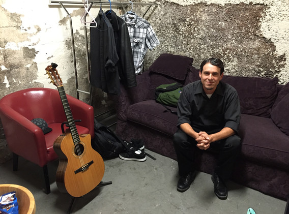 backstage at Mountain Winery