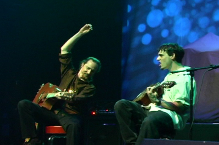 J & Tom Finch opening for Satriani in Anaheim.
