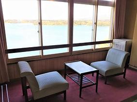 客室からの眺望 佐渡島 加茂湖