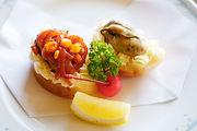 牡蛎カナッペ 牡蛎のバター焼きとケチャップ煮のカナッペ 加茂湖牡蛎 カキ