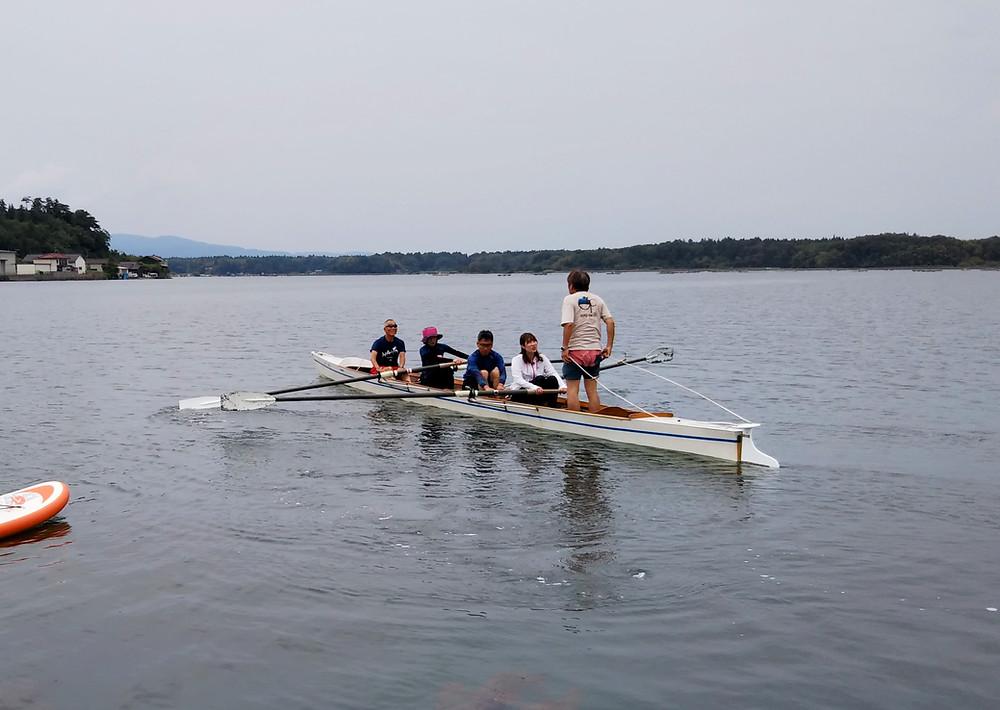 レガッタ 加茂湖ボート体験 修学旅行