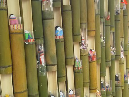 おひなさまの竹飾り~かぐや姫もいるかなo(^o^)o