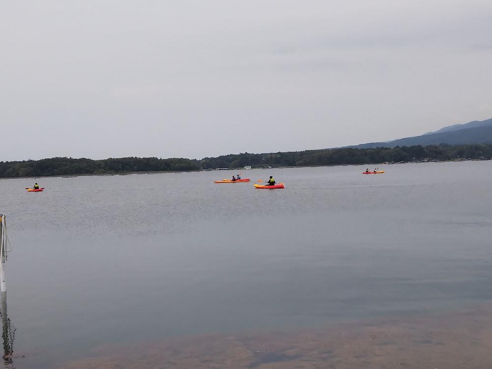 加茂湖カヤック体験 ボート遊び