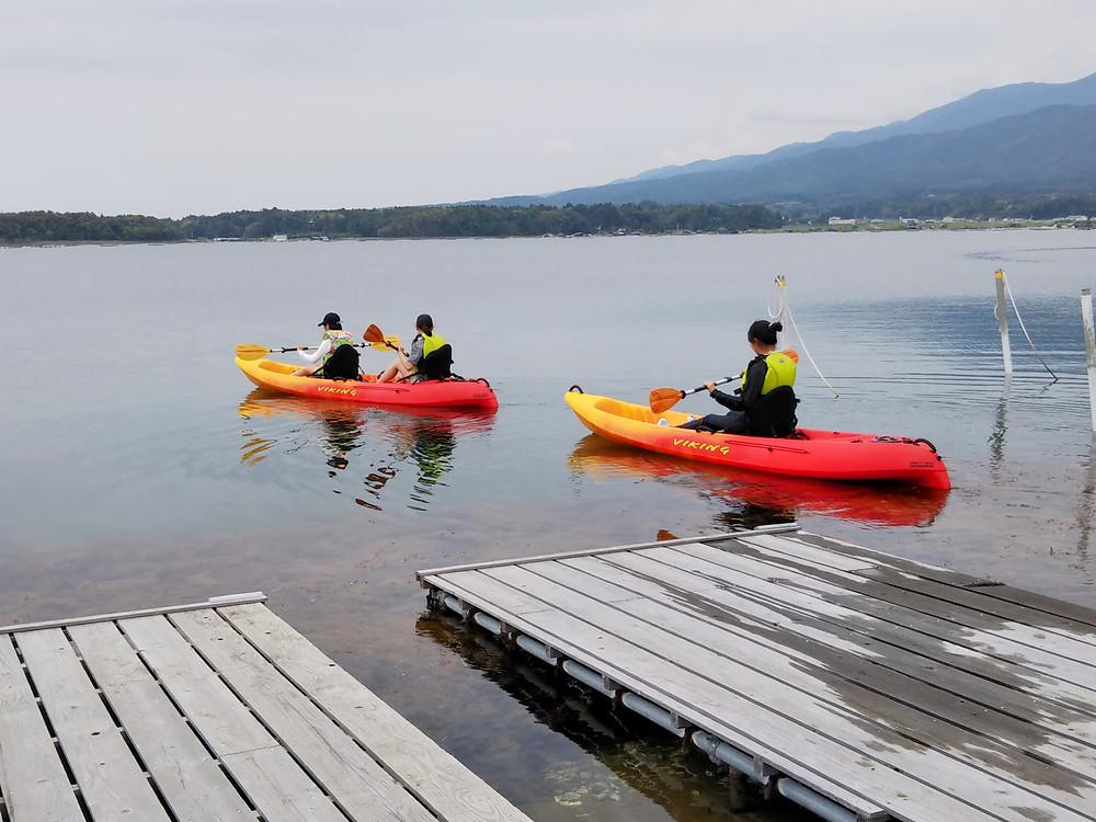 加茂湖シーカヤック 加茂湖ボート体験 加茂湖ボートハウス