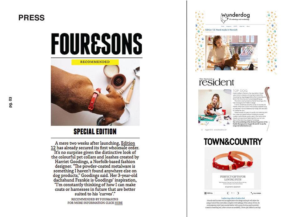 designer dog collars four