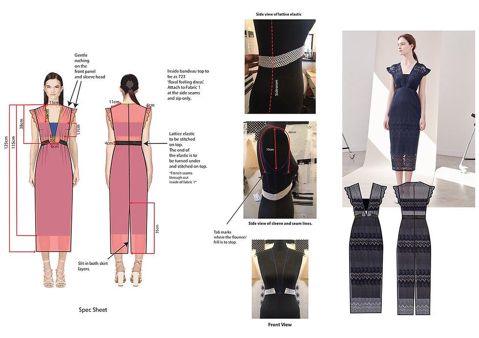 fashion portfolio black lace dress