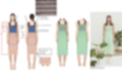 fashion portfolio mint dress tech pack