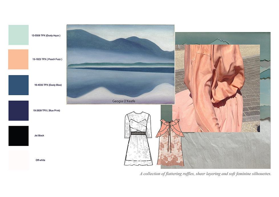 fashion portfolio pink dress design