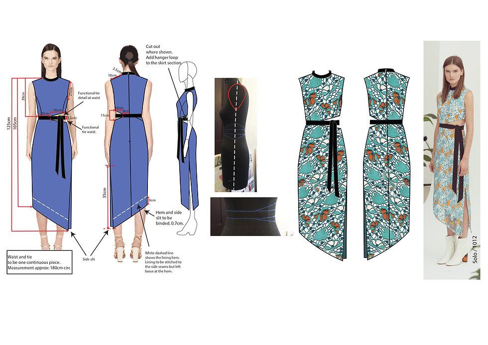 fashion portfolio flower dress design