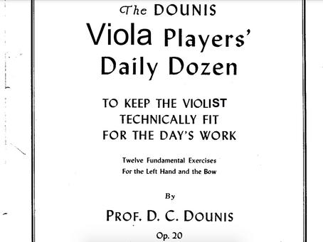 The Dounis Viola Players Daily Dozen
