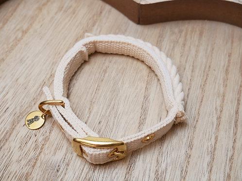 Halsband Natural - mit Tau