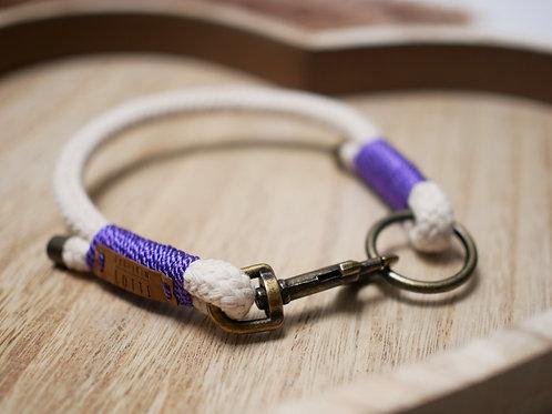 Tauhalsband Natural - lavendel 8mm
