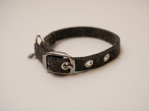 """Halsband """"Toni"""" Basic aus Wollfilz - grau"""