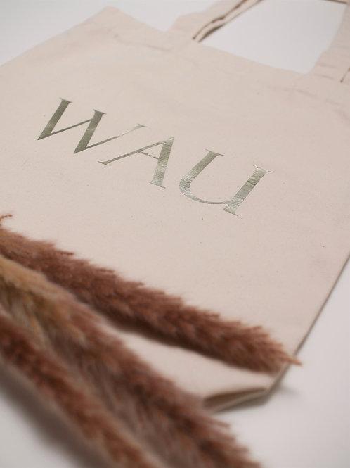 """Baumwolltasche """"WAU"""""""