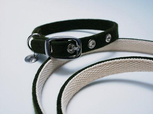 "Halsband ""Toni"" Basic aus Wollfilz - jagdgün"