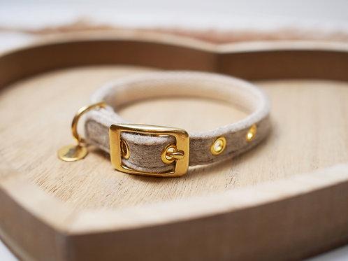 "Halsband ""Toni"" aus Wollfilz - beige"